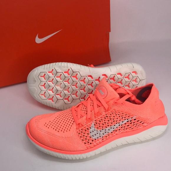 Nike Shoes Gratis 30 Coral Neon ColorPoshmark  Free Rn Run Flyknit 2018 Neon Coral Orange
